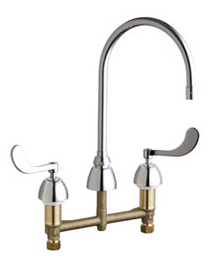 Chicago Faucets - 201-AGN8AE3-317ABCP - E-Cast Lead Free Faucet
