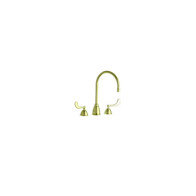 Chicago Faucets - 201-AGN8AE3-317BHF - Polished Brass