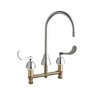 Chicago Faucets - 201-AGN8AE3-317CP - Kitchen Sink Faucet without Spray