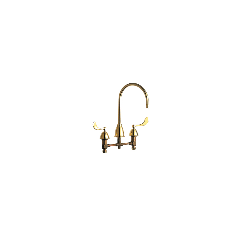 Chicago Faucets - 201-AGN8AE3-317CPB - Coated Polished Brass
