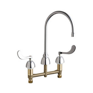 Chicago Faucets - 201-AGN8AE3-317VPHAB - Kitchen Sink Faucet without Spray