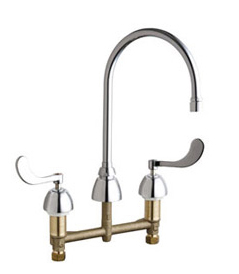 Chicago Faucets - 201-AGN8AE3-317VPAABCP - ECAST™ KITCHEN SINK FAUCET