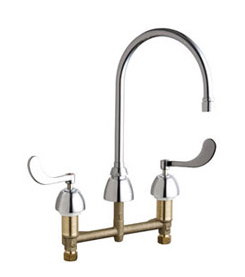 Chicago Faucets - 201-AGN8AE3-317VPCCP - Kitchen Sink Faucet without Spray