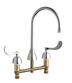Chicago Faucets - 201-AGN8AE3-317VPHCP - Kitchen Sink Faucet without Spray