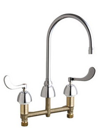 Chicago Faucets - 201-AGN8AE3-317XKABCP - ECAST™ KITCHEN SINK FAUCET