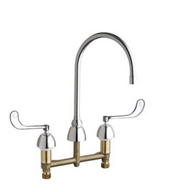 Chicago Faucets - 201-AGN8AE3-319CP - Kitchen Sink Faucet without Spray