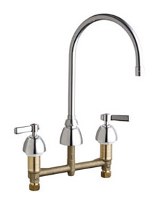 Chicago Faucets - 201-AGN8AE3ABCP - Kitchen Sink Faucet without Spray