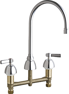 Chicago Faucets - 201-AGN8AE3VPCCP - Kitchen Sink Faucet without Spray