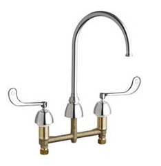 Chicago Faucets - 201-AGN8AFC319ABCP - Kitchen Sink Faucet without Spray
