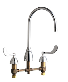 Chicago Faucets - 201-AGN8AFCE3-317CP - Kitchen Sink Faucet without Spray