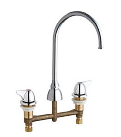Chicago Faucets 201-AGN8FC1000CP - CONCEALED KITCHEN SINK FAUCET