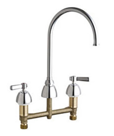 Chicago Faucets - 201-AGN8FCCP - Kitchen Sink Faucet without Spray