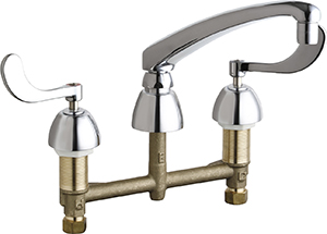 Chicago Faucets - 201-AL8-317XKABCP - Kitchen Sink Faucet without Spray