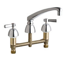Chicago Faucets 201-AL8VPAXKABCP - KITCHEN SINK FAUCET W/O SPRAY