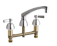 Chicago Faucets - 201-AL8XKCP - Kitchen Sink Faucet without Spray