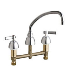 Chicago Faucets - 201-AVPAXKABCP - Kitchen Sink Faucet without Spray