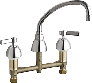 Chicago Faucets - 201-AXKCP - Kitchen Sink Faucet without Spray