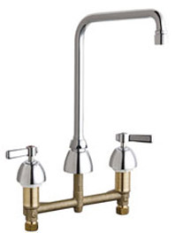 Chicago Faucets 201-RSHA8AE35VPXKABCP - 8-inch Center Concealed Kitchen Sink Faucet, Less Side Spray