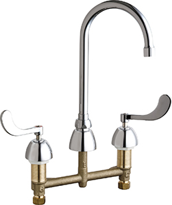 Chicago Faucets - 201-AGN2AE3-317VPCAB - Kitchen Sink Faucet without Spray
