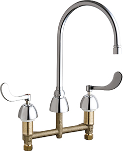 Chicago Faucets - 201-AGN8AE3-317VPCAB - Kitchen Sink Faucet without Spray