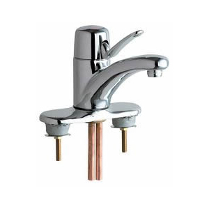 Chicago Faucets - 2200-4E37ABCP - Marathon™ Single Lever Low Flow, Water Saving Lavatory Faucet with 1.5GPM Pressure Compensating Laminar Flow Aerator Outlet and Ceramic Disc Operating Cartridge