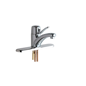 Chicago Faucets 2200-8CP Marathon™ Single Lever Lavatory Faucet with 8 inch Cover Plate