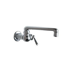 Chicago Faucet - 332-241CPR - Single Hole Pot Filler with Metal Lever Handle