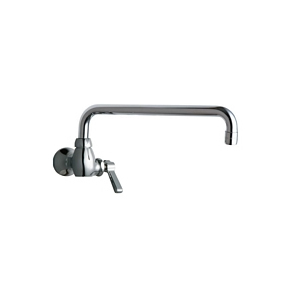 Chicago Faucets - 332-L12ABCP - Single Hole Wall Mounted Faucet