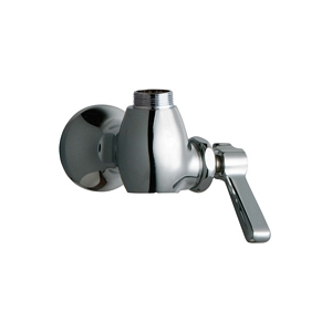 Chicago Faucets 332-LESAB - Single Supply Wall Mounted Faucet with Lever Handle, Less Spout