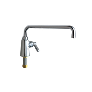 Chicago Faucets 349-L12ABCP - Single Hole Deck Mounted Pantry/Bar Faucet with 12 inch swing spout and single water supply.