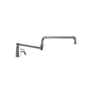 Chicago Faucets 350-DJ26ABCP - Single Supply Sink Faucet with 26-inch Double Joint Swing Spout