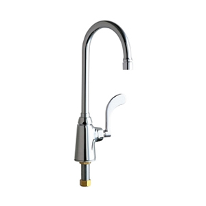 Chicago Faucets 350-E35VP317XKABCP - SINGLE SUPPLY SINK FAUCET