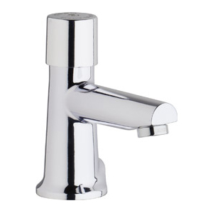 Chicago Faucets 3501-E2805ABCP - Single Hole Mount, Single Control Hot and Cold Water Metering Mixing Sink Faucet