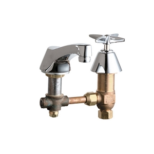 Chicago Faucets - 403-CWCP - Widespread Lavatory Faucet