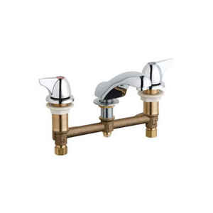 Chicago Faucets - 404-1000ABCP - Widespread Lavatory Faucet