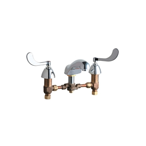 Chicago Faucets - 404-317SWCP - Widespread Lavatory Faucet