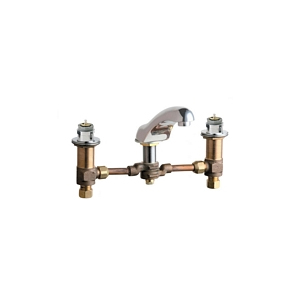 Chicago Faucets - 404-665LESSHDLCP - Widespread Lavatory Faucet