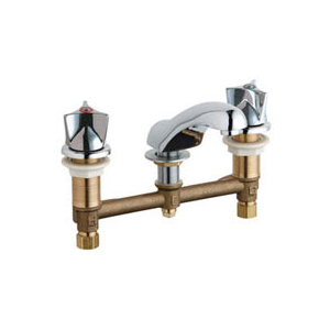 Chicago Faucets - 404-950ABCP - Widespread Lavatory Faucet