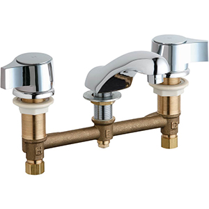 Chicago Faucets - 404-V636CP - Widespread Lavatory Faucet