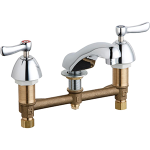 Chicago Faucets - 404-VABCP - Widespread Lavatory Faucet