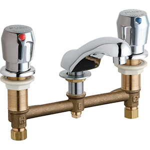 Chicago Faucets - 404-VE2805-665ABCP - Widespread Lavatory Faucet