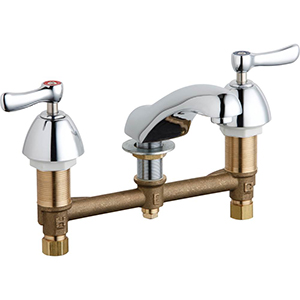 Chicago Faucets - 404-XKCP - Widespread Lavatory Faucet