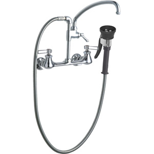 Chicago Faucets 509-GCTFABCP - Pot Filler with Triple Force Pre-Rinse Spray Valve