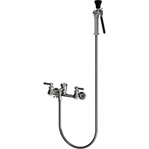 Chicago Faucets 512-GC90LCP - Wall Mount Pre-Rinse Fitting