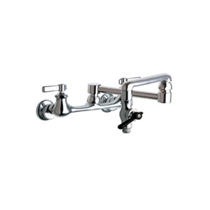 Chicago Faucets 517-GCCP - 8-inch Center Wall Mounted Pot Filler Faucet with Front Control Shut-Off