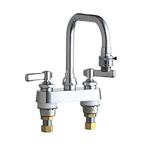 Chicago Faucets - 526-E2E27CP - 4-inch Deck Mounted Service Sink Faucet