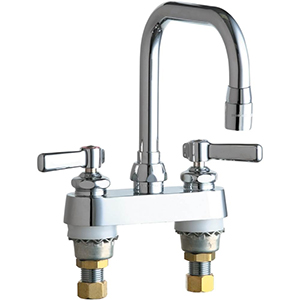 Chicago Faucets - 526-E3CP - 4-inch Deck Mounted Sink Faucet