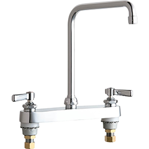 Chicago Faucets - 527-HA8XKABCP - 8-inch Deck Mounted Sink Faucet