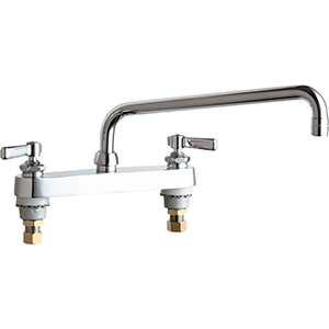 Chicago Faucets - 527-L12ABCP - 8-inch Deck Mounted Sink Faucet