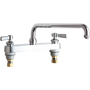 Chicago Faucets - 527-L12E1CP - 8-inch Deck Mounted Service Sink Faucet
